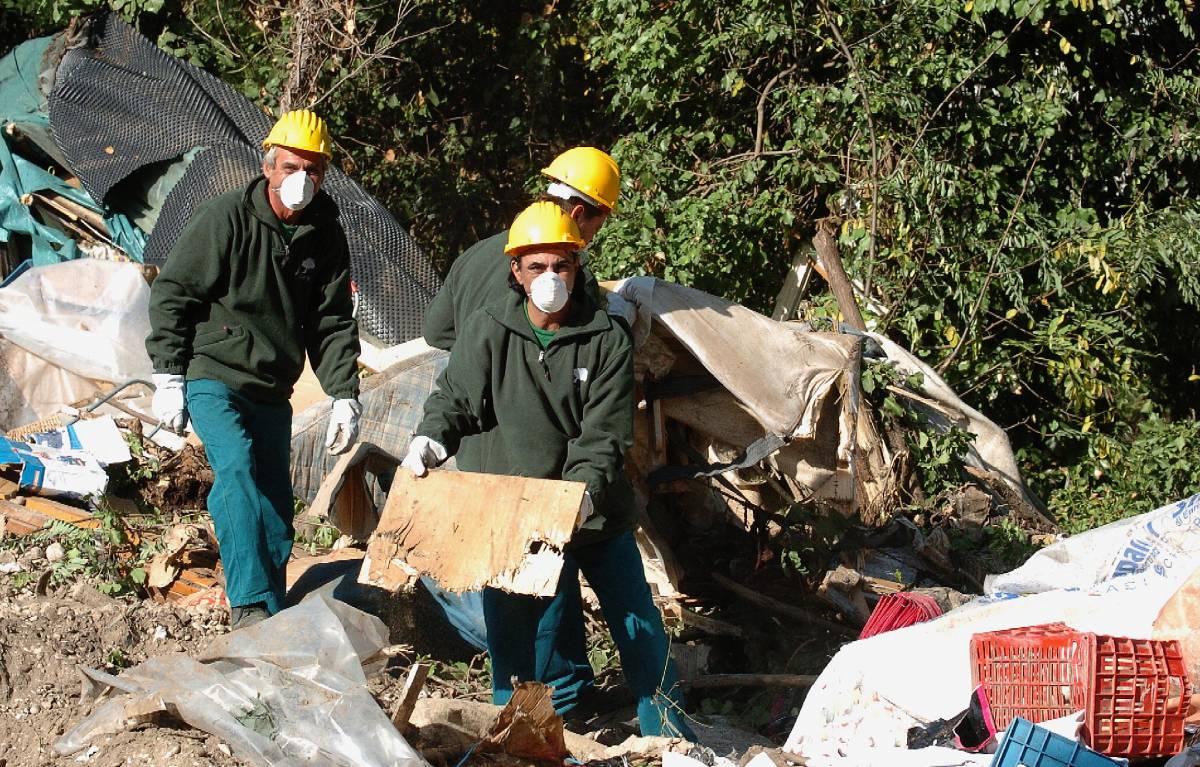 Demolita la favela di Tor di Quinto