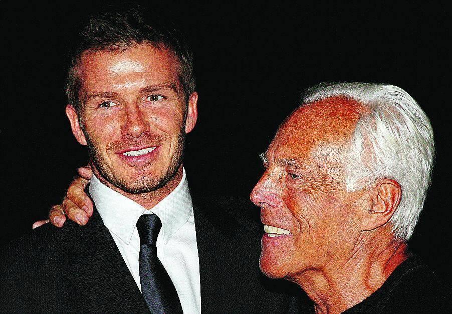 Sognando David La sfilata vista da Beckham