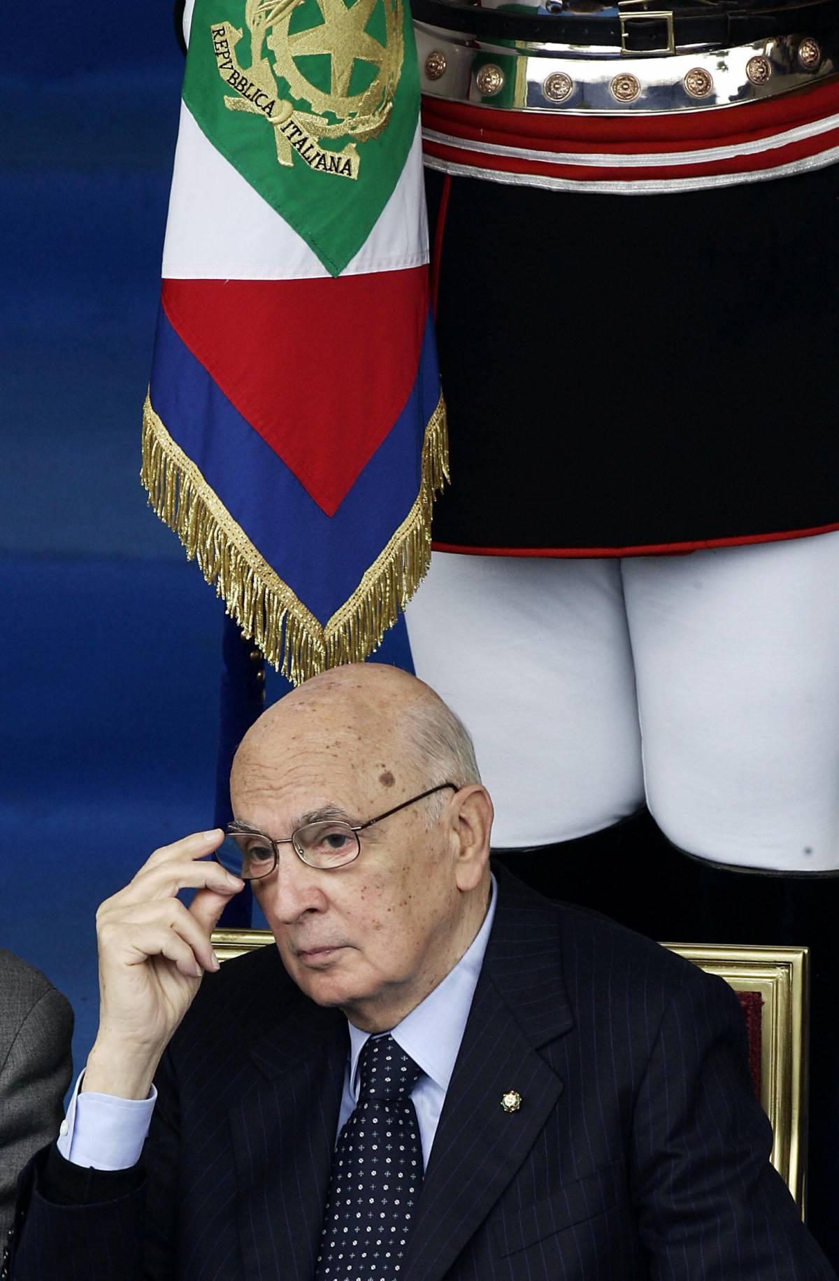 """Crisi, Napolitano: """"La mafia può approfittarne"""""""