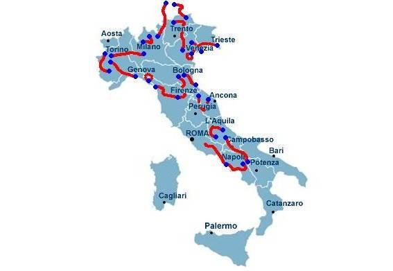 Una corsa al contrario: subito le Dolomiti, si arriva a Roma