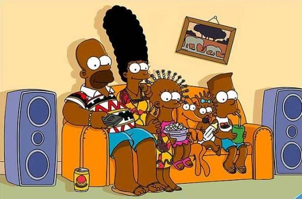 Ecco i Simpson in versione afro:  rivoluzione nel cartone più amato