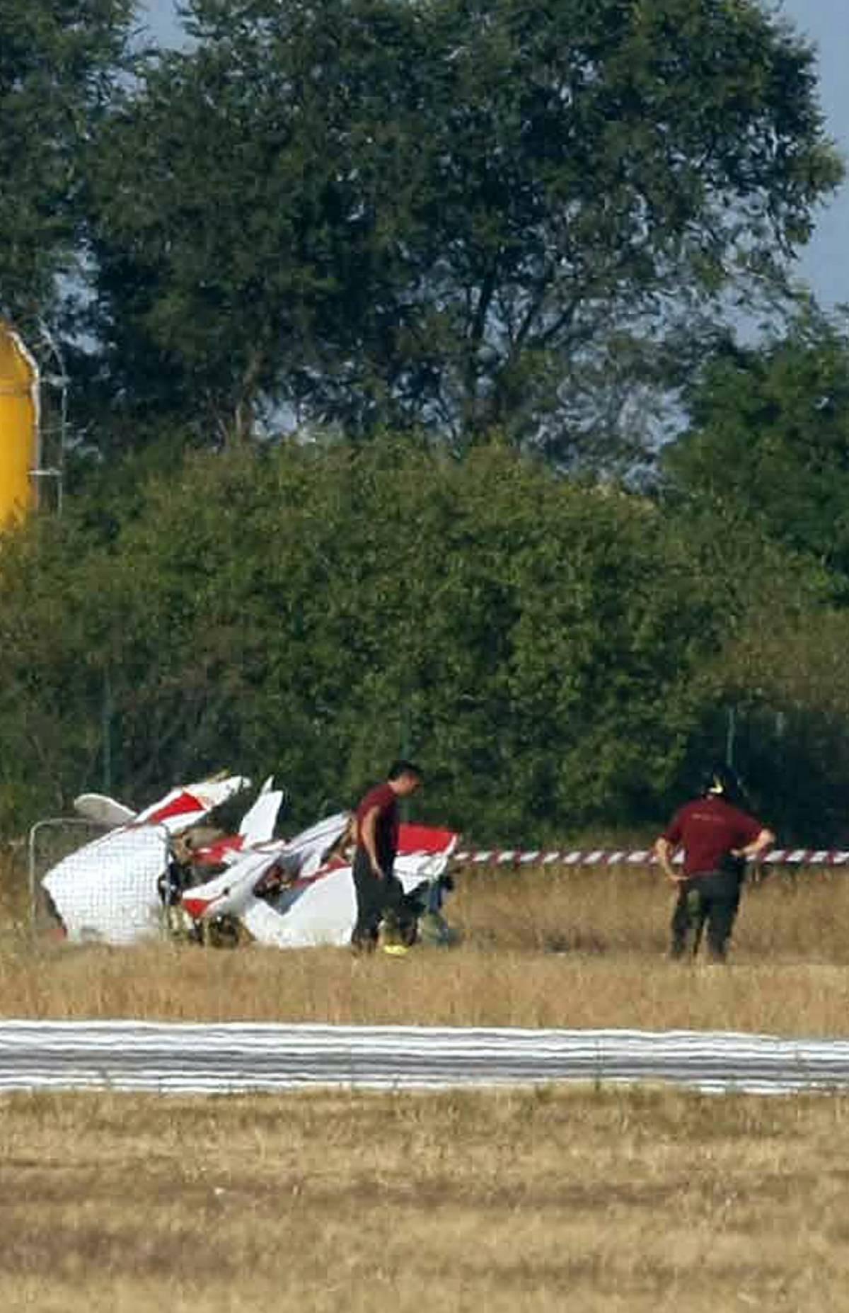 Montichiari, un Piper  precipita durante  l'Airshow: un morto