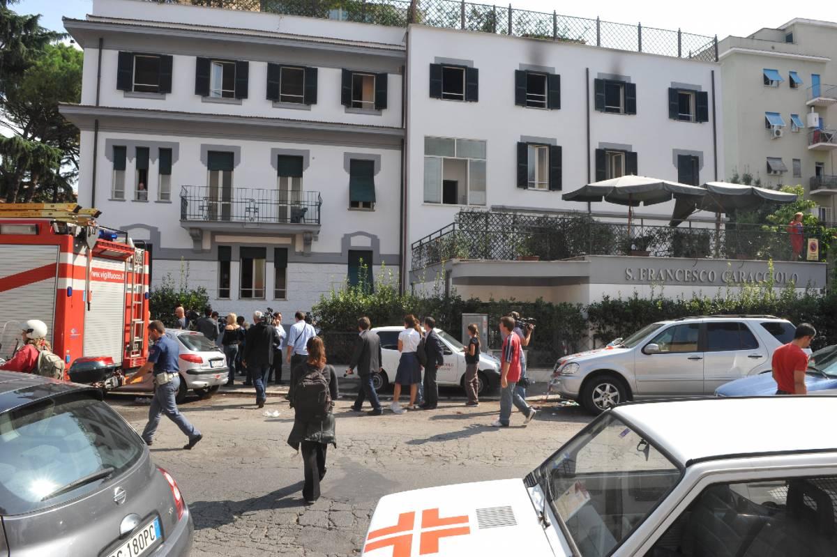Brucia casa di cura: morta 88enne