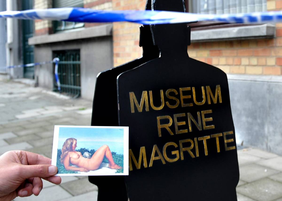Colpo grosso a Bruxelles  Rubata tela di Magritte