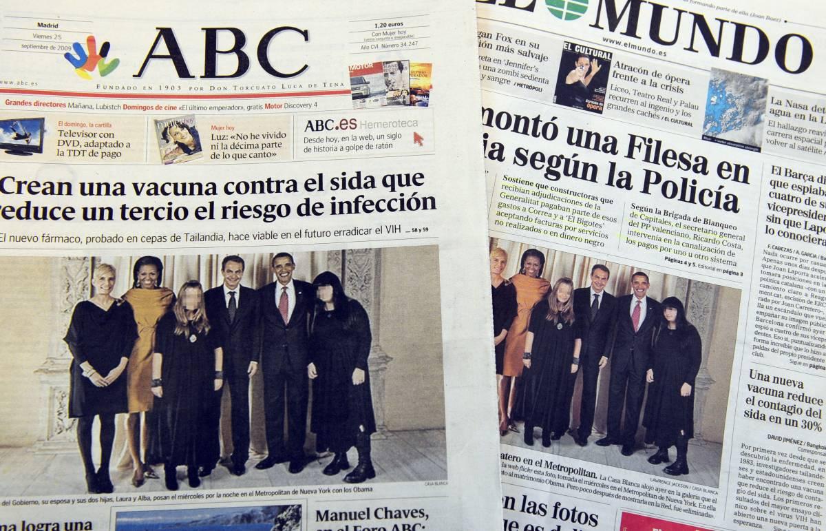 """Le due figlie di Zapatero  e la foto da """"censurare"""""""
