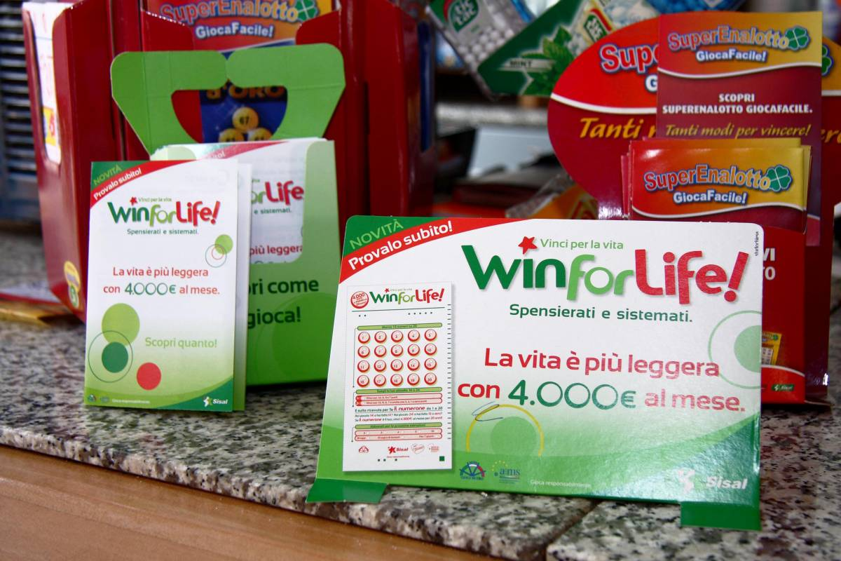 Win for life: c'è già il primo vincitore  Un vitalizio da 4mila euro al mese