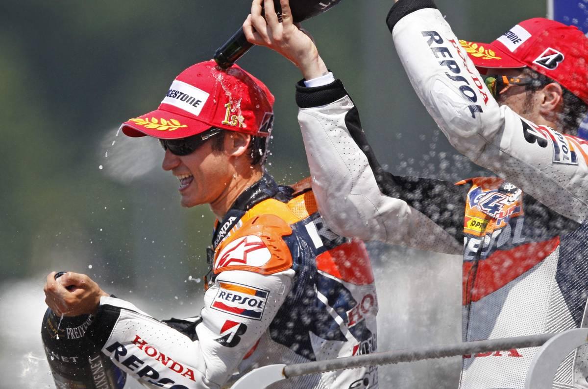 A Pedrosa il Gp che non Vale: e Lorenzo sul podio lo onora