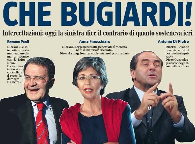 """La sinistra e la legge intercettazioni:  quando a Prodi il """"bavaglio"""" piaceva"""