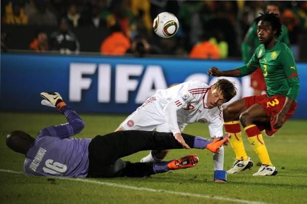 La Danimarca batte il Camerun 2 a 1