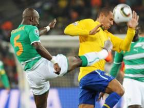 Brasile spettacolo: Costa d'Avorio distrutta  Doppio Luis Fabiano più Elano: finisce 3-1