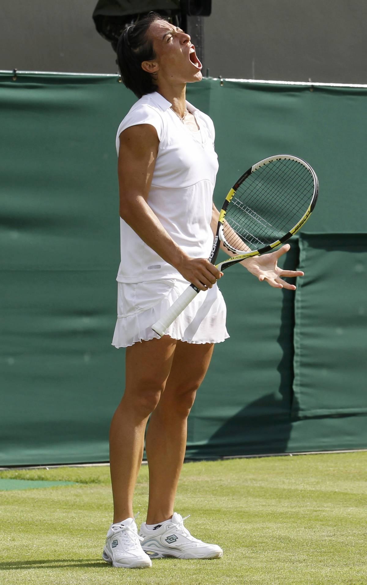 Alla Schiavone non piace l'erba: subito fuori a Wimbledon