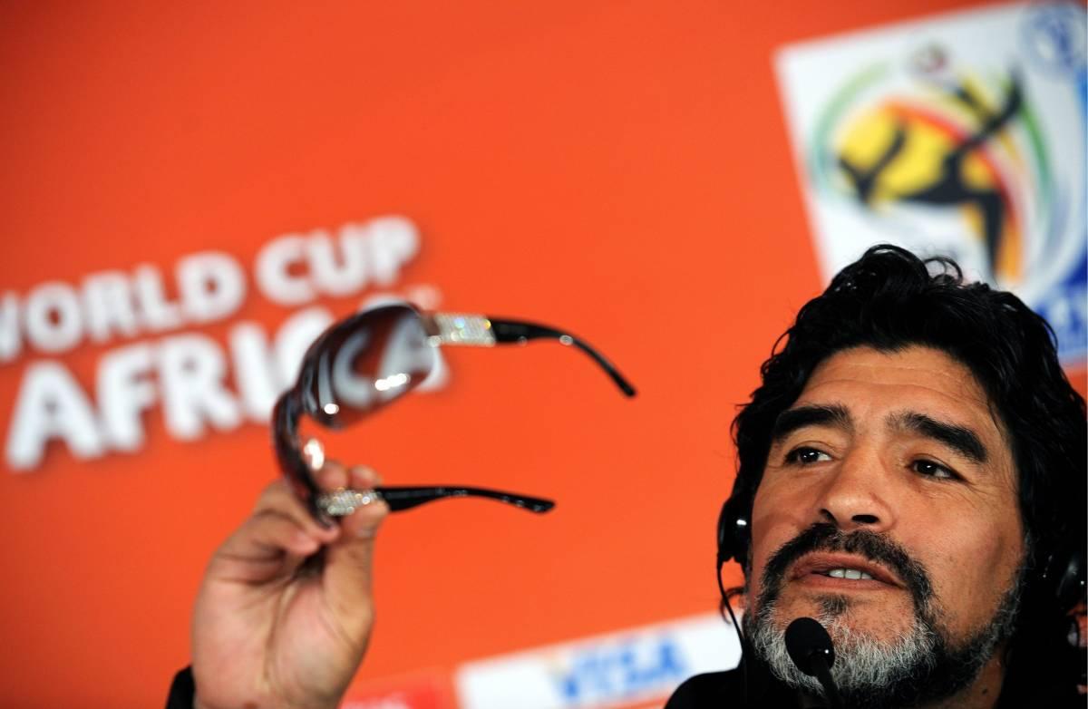 """Maradona: """"All'Italia mancati Totti e Del Piero"""""""