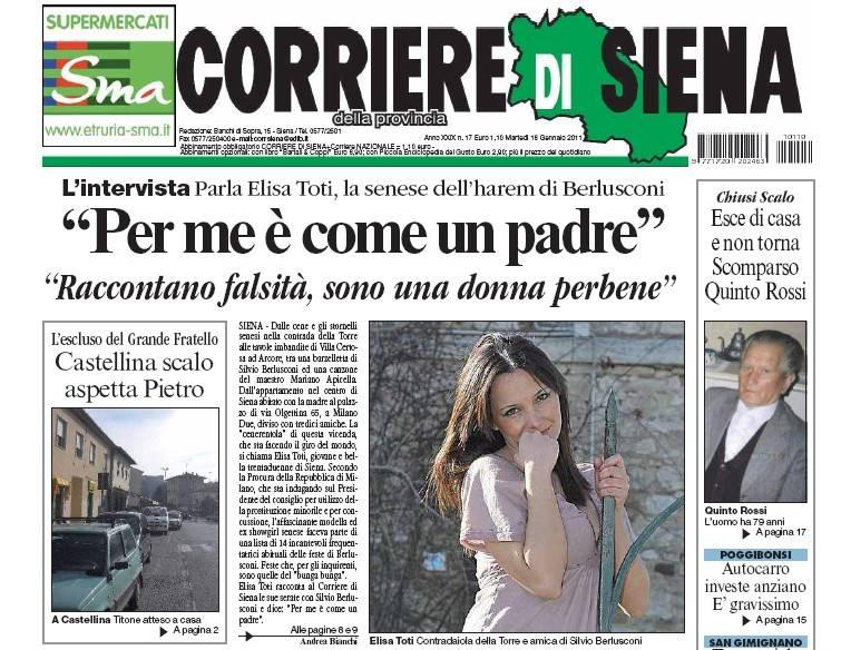"""""""Io ospite dal premier.  Bunga bunga? Falso   Silvio è come un padre"""""""