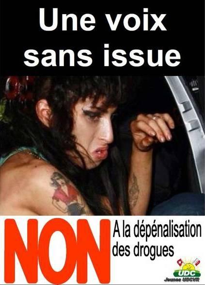Anche in Svizzera la Winehouse diventa   testimonial di una campagna anti droga