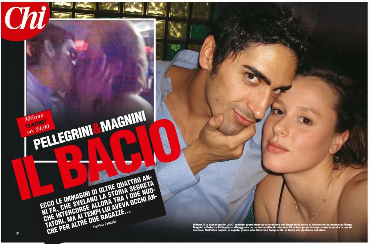"""Il """"triangolo"""" dell'estate:  tra Magnini e Pellegrini  un bacio già nel 2007"""