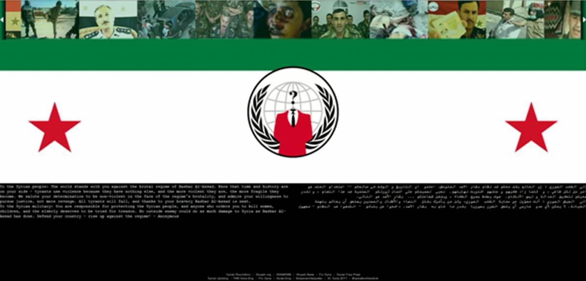 Anche la Siria finisce nel mirino di Anonymous  Attacco hacker al sito del ministero della Difesa
