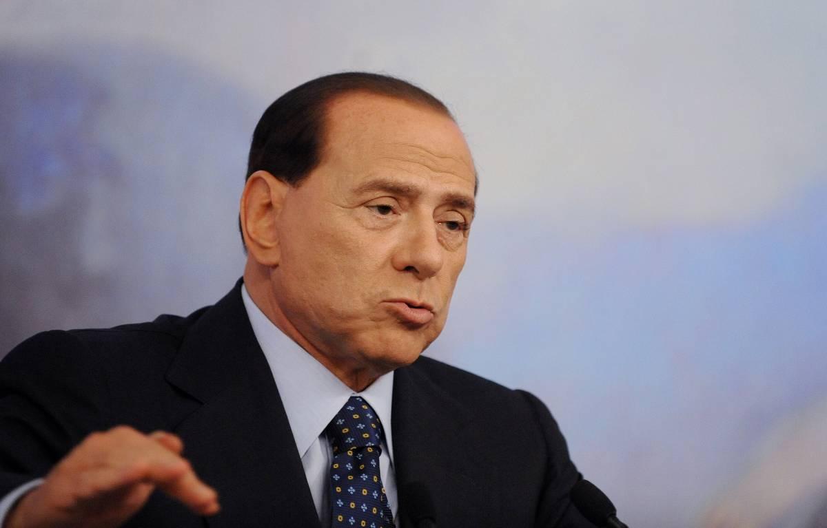 """Sulla Padania Berlusconi bacchetta il Senatùr:  """"Questa volta sbaglia, l'Italia ci sarà sempre"""""""