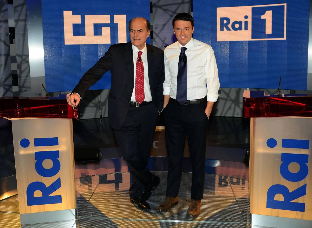 Primarie, duello tv Renzi-Bersani