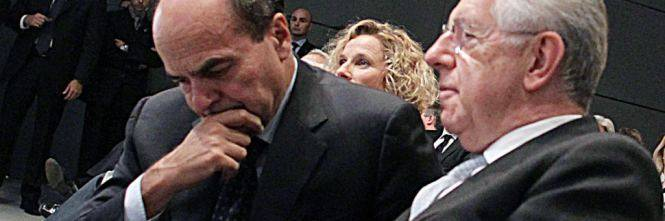 L'inciucio Monti-Bersani: Il segretario Pd premier Casini al Senato, Draghi al Colle