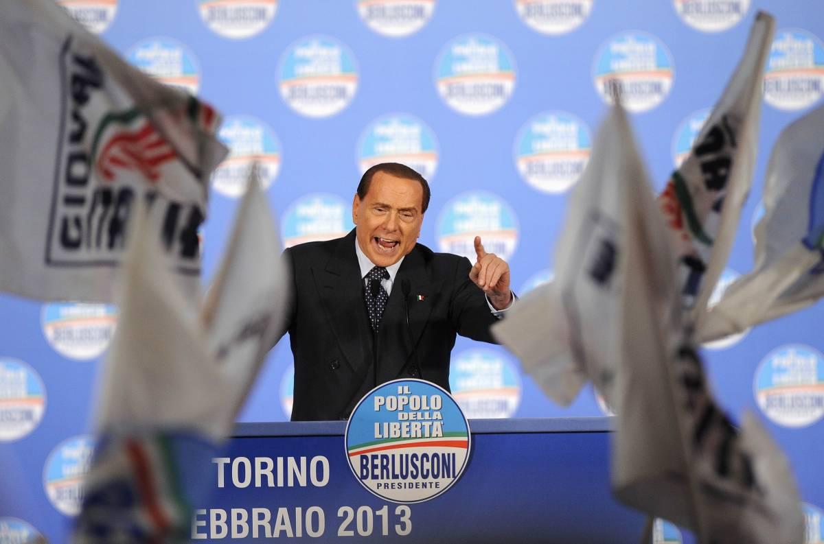 Il Cavaliere Silvio Berlusconi alla convention del Pdl