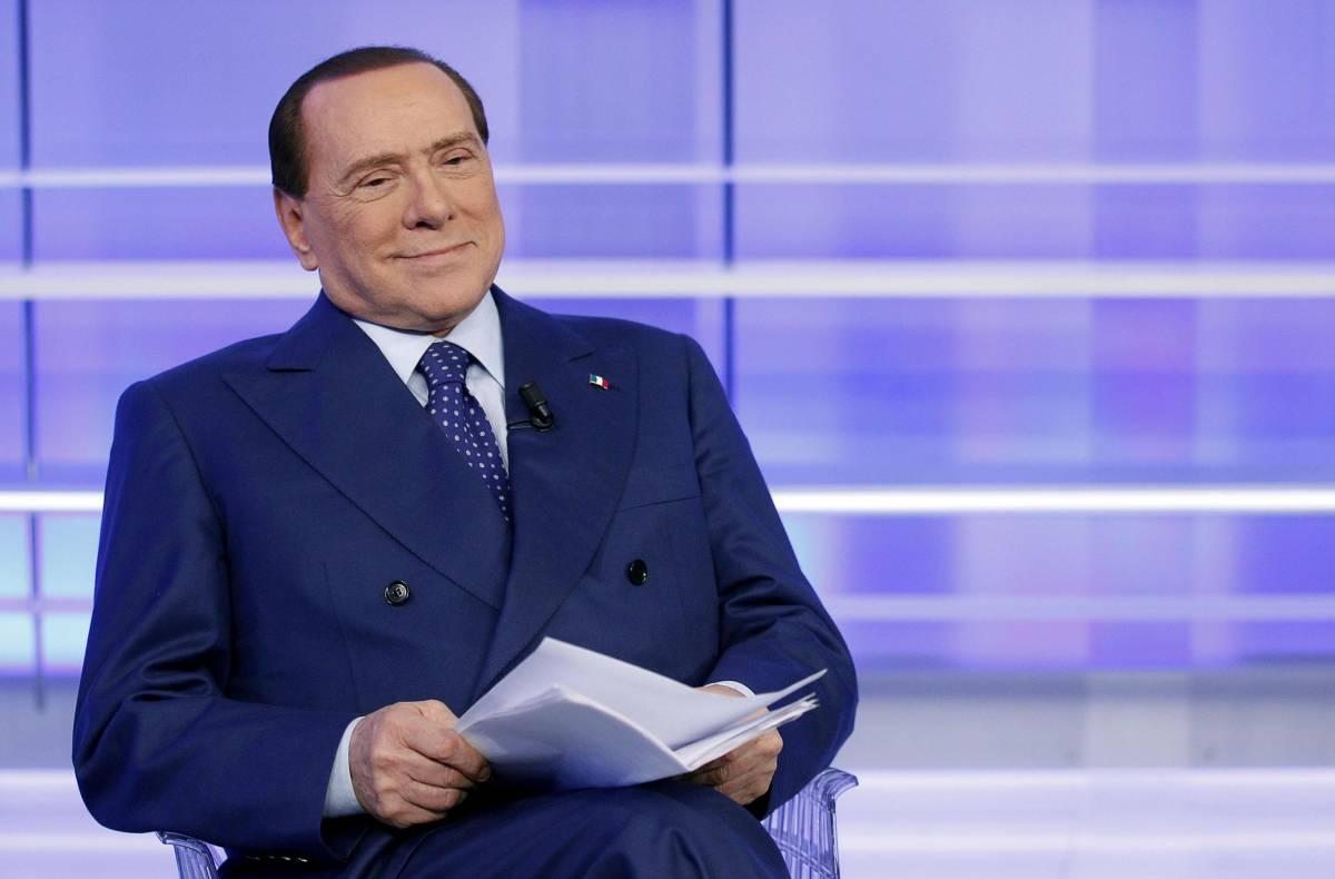 Silvio Berlusconi ospite della trasmissione di Enrico Mentana