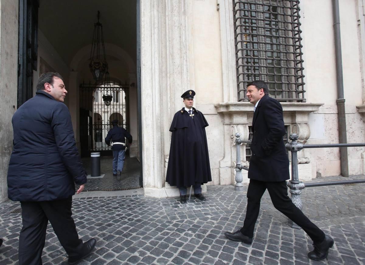 Renzi da Monti a Palazzo Chigi
