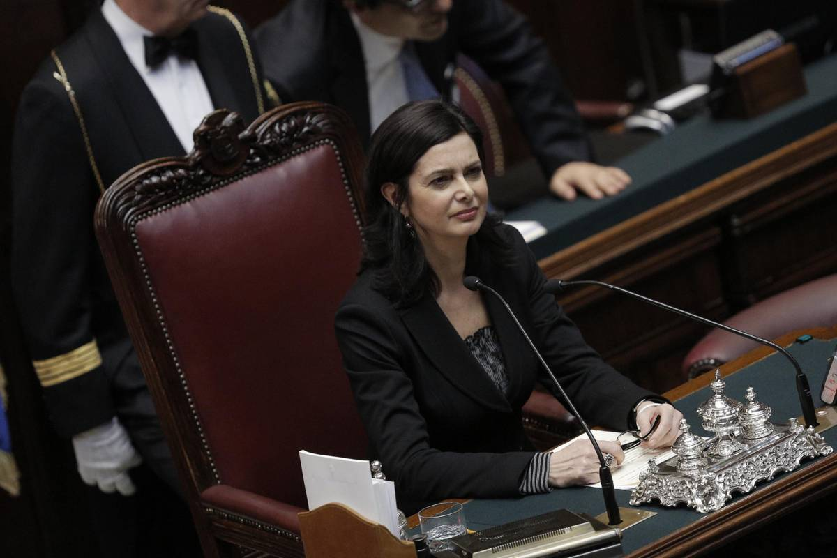 La neoeletta Presidente della Camera Laura Boldrini