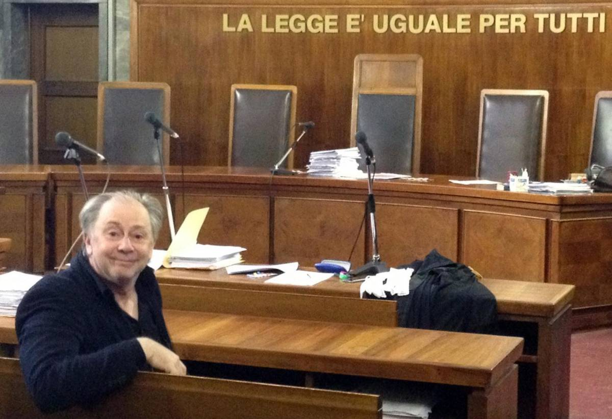 Lele Mora in tribunale a Milano