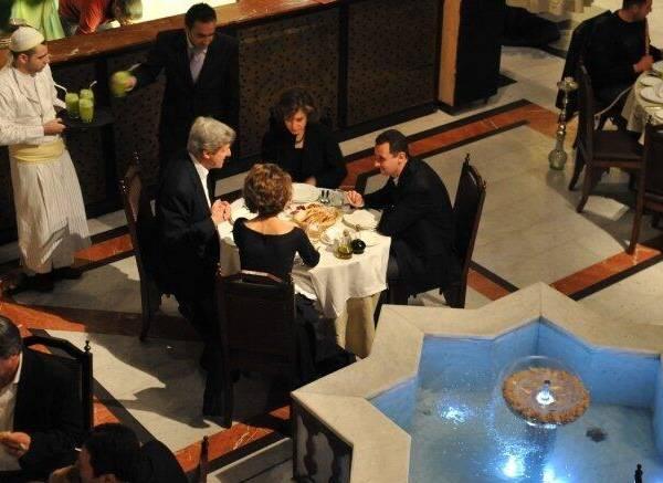 Quando Kerry cenava con Assad