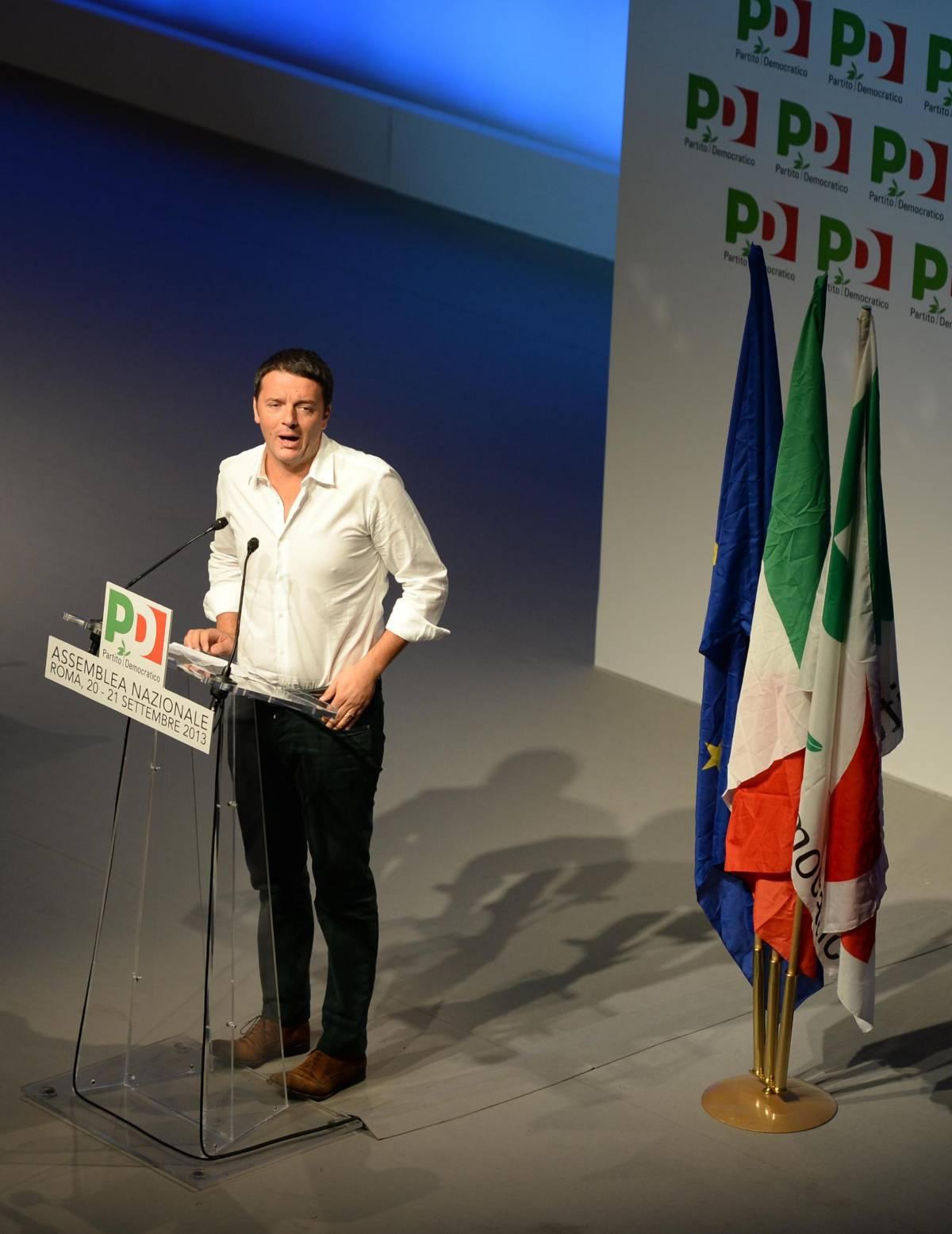 Assemblea nazionale Pd, bordata di Renzi a Letta