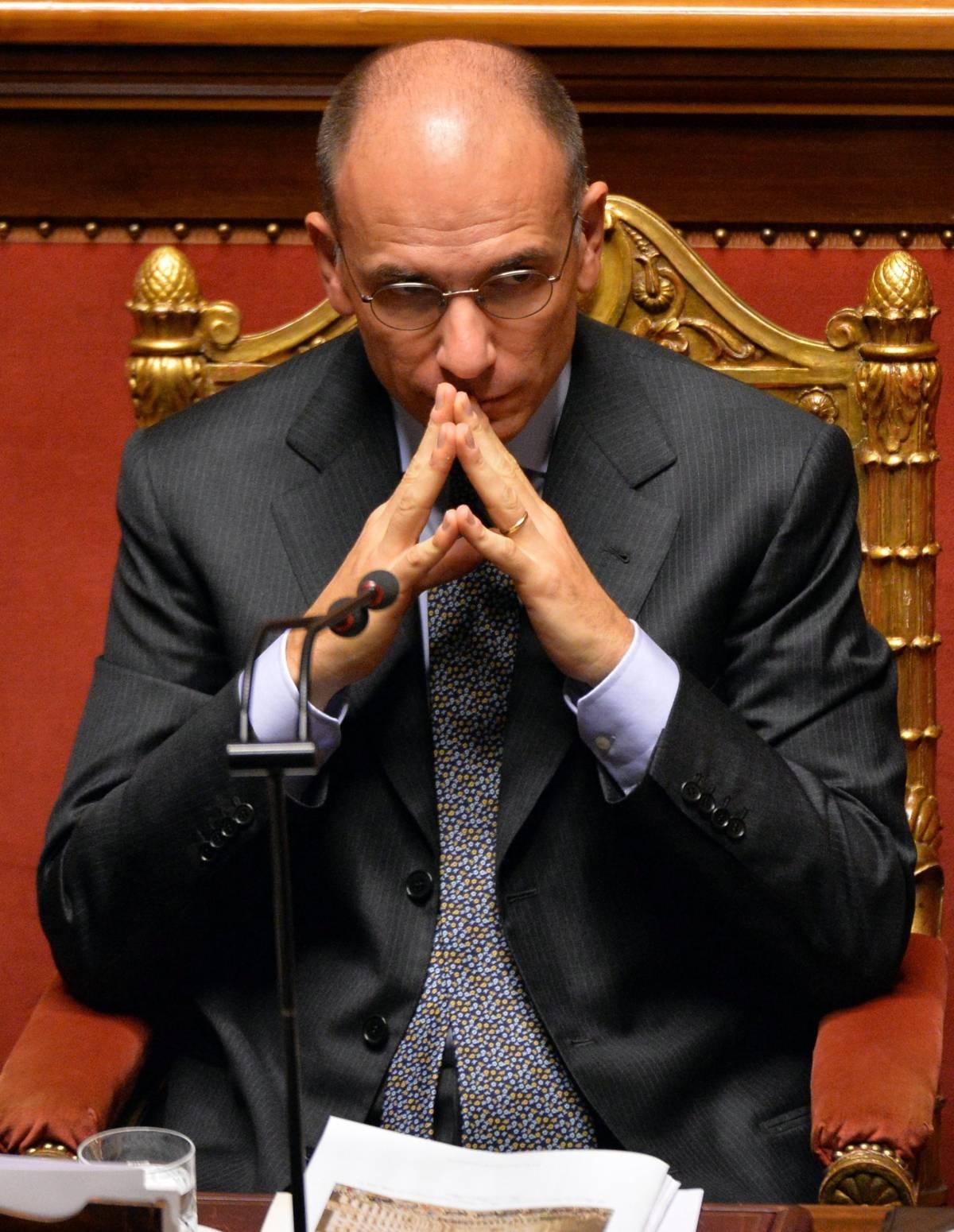"""Letta parla in Senato: """"Se governo muore, deve farlo in Parlamento"""""""