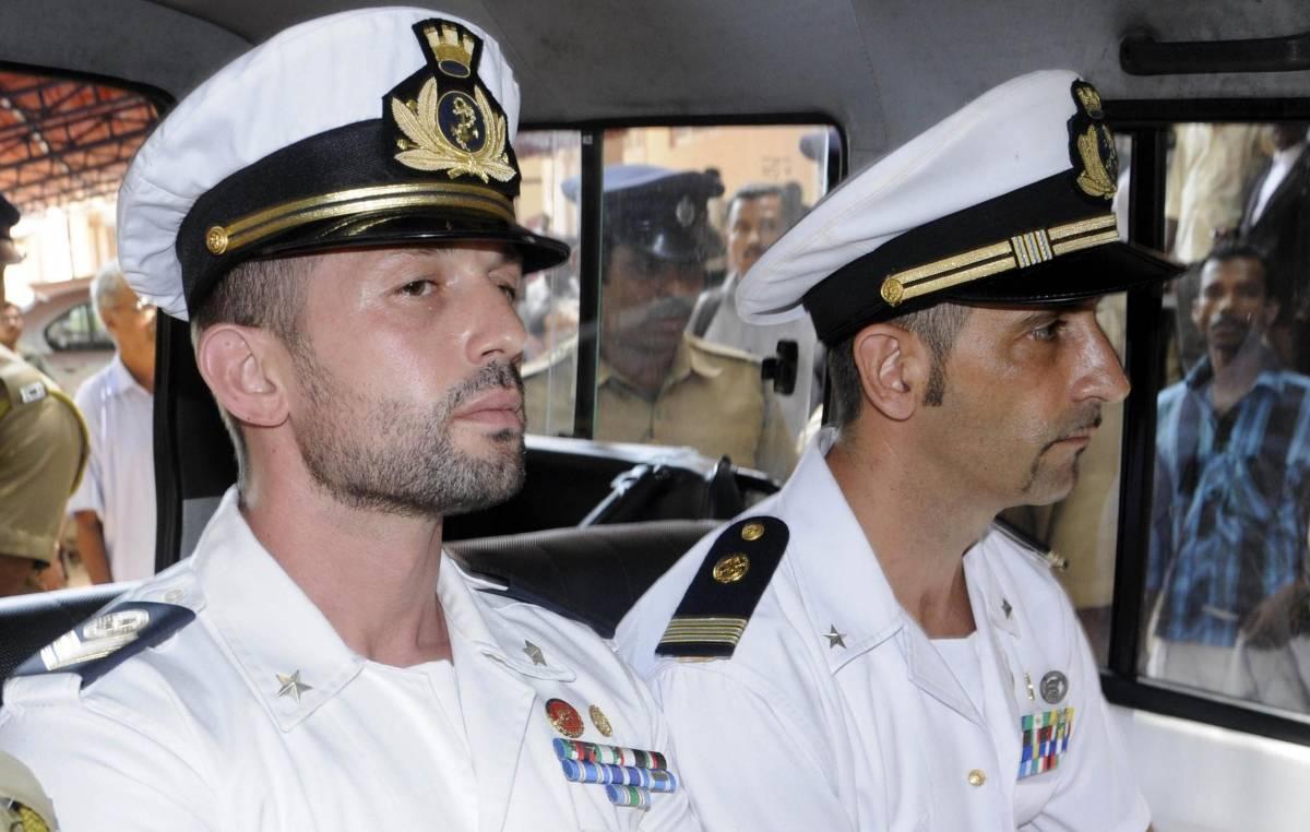 I due marò italiani prigionieri in India dal febbraio 2012