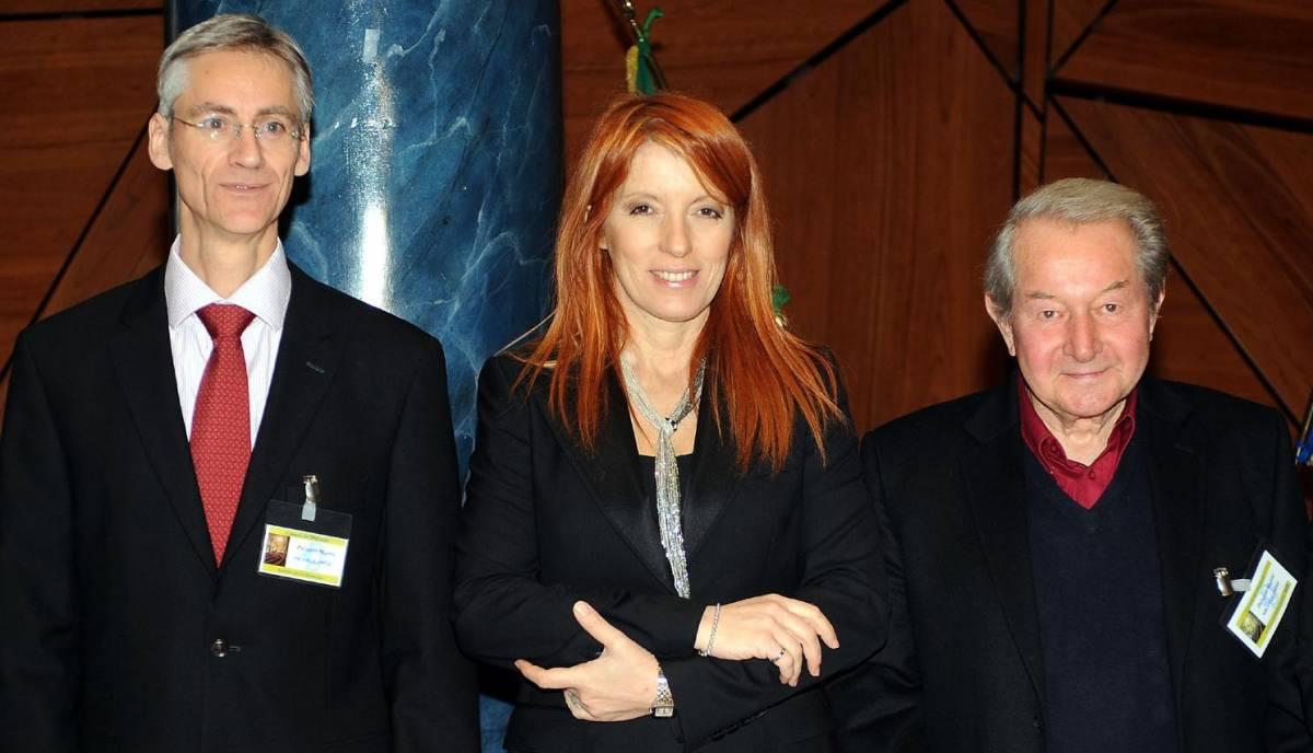 Marcel  Leist, direttore Centro europeo  per i metodi alternativi, l'on. Michela Vittoria Brambilla, e Claude Reiss, fisico e biologo cellulare