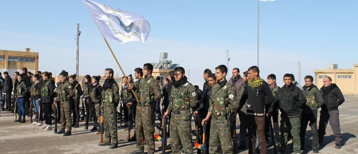 Milizia cristiana Sutoro in addestramento in Siria