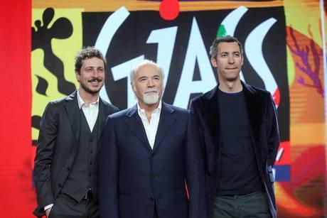 Antonio Ricci, al centro, con Luca Bizzarri e Paolo Kessisoglu