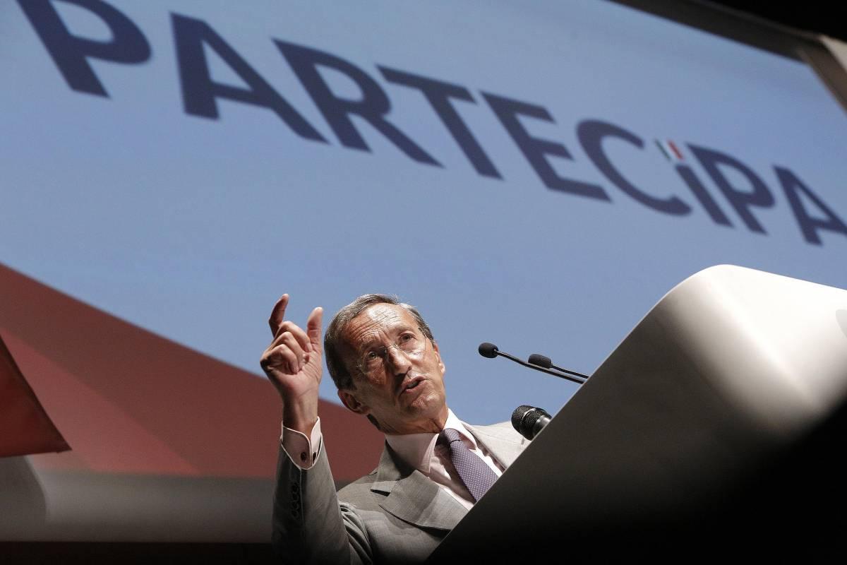 Gianfranco Fini alla convention ''Partecipa''