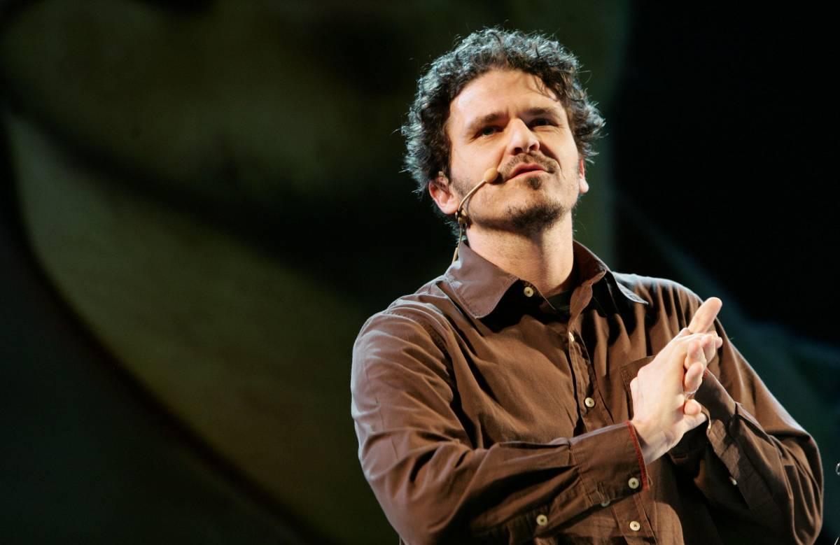 Lo scrittore statunitense Dave Eggers al V Festival Internazionale delle Letterature alla Basilica di Massenzio