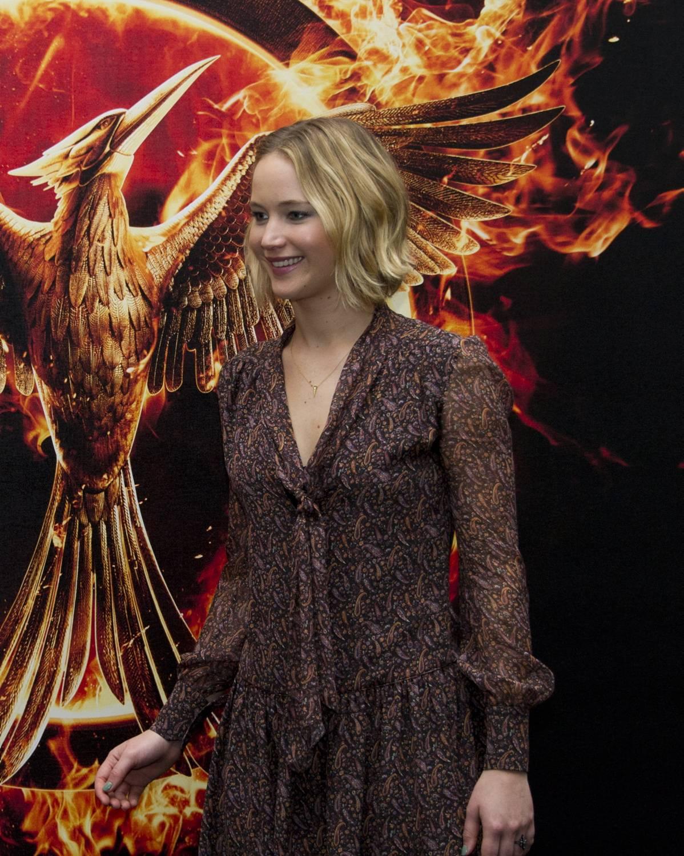 """Jennifer Lawrence a una presentazione del terzo capitolo della saga """"Hunger games"""""""