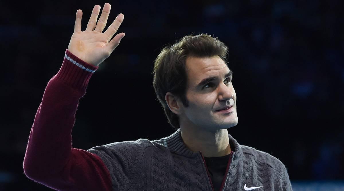 Lo sguardo triste di Federer dopo aver dato forfait