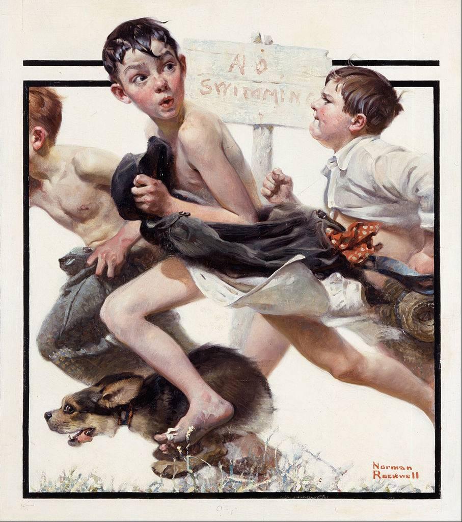 I romani incantati da Rockwell, l'illustratore che disegnò il volto quotidiano degli Usa