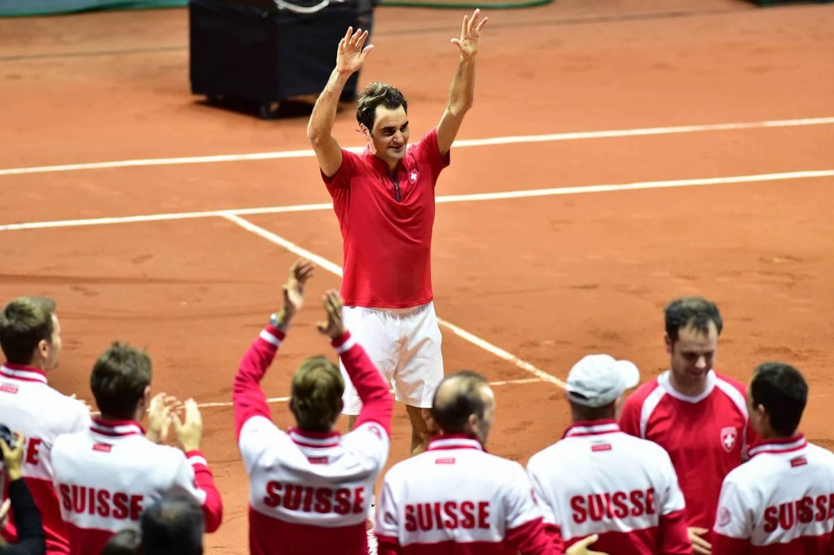 Federer porta anche la Svizzera nella storia
