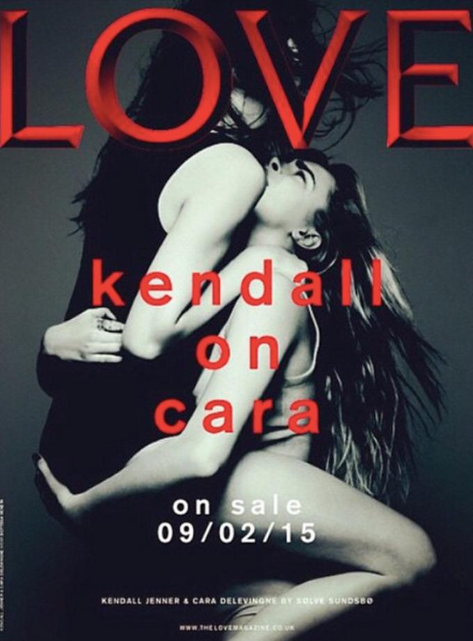 La copertina lesbo con Cara Delevigne e Kim Kardashian