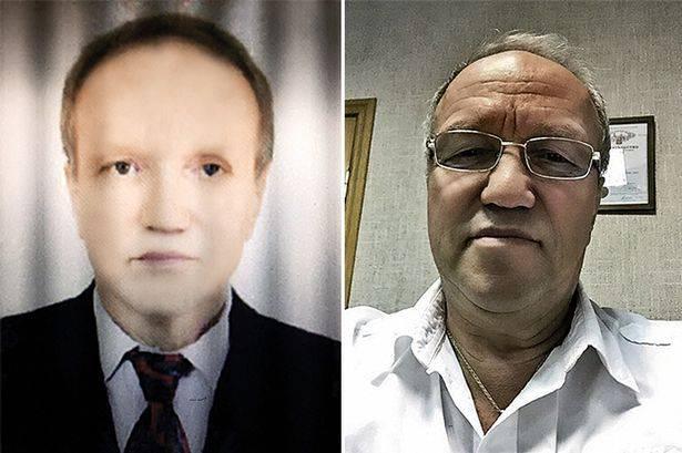 Semen Gendler prima e dopo il trapianto di fegato (The Mirror)