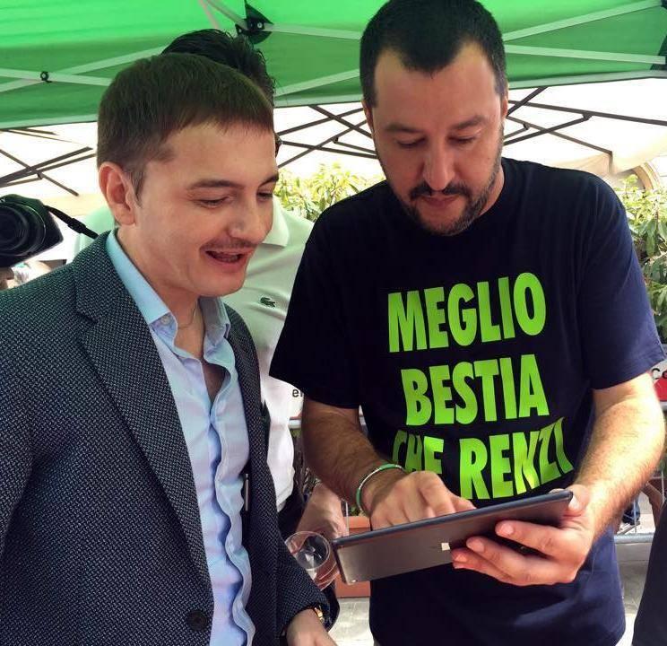 """""""La bestia"""" dei social di Salvini nei locali del sindacato Ugl"""