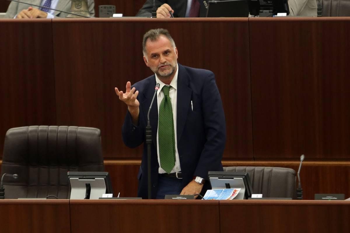 Massimo Garavaglia durante un intervento a Palazzo Pirelli