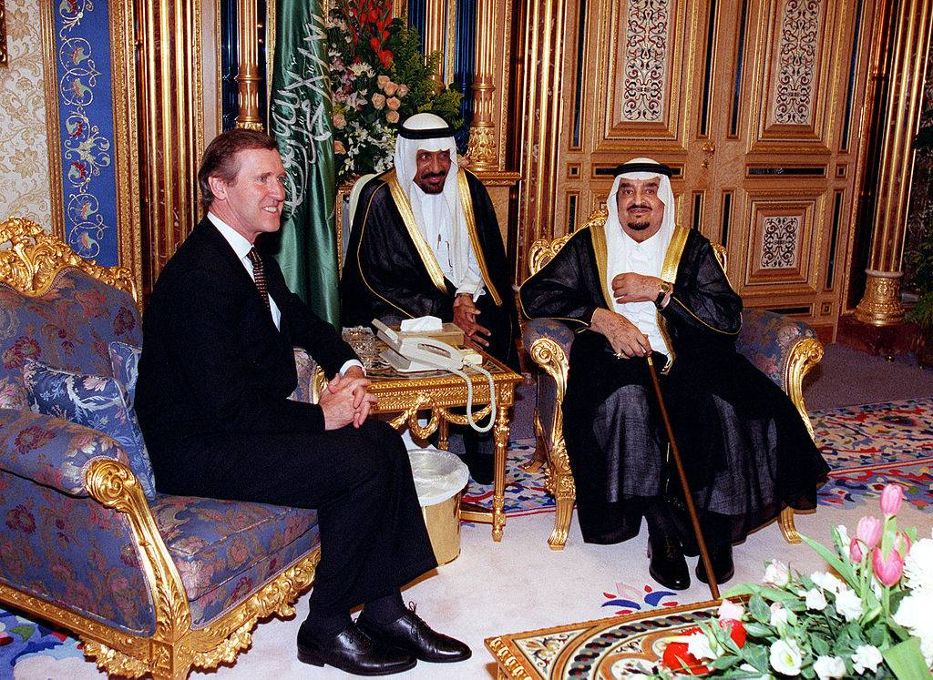 Re Fahd e il segretario alla Difesa americano William S. Cohen