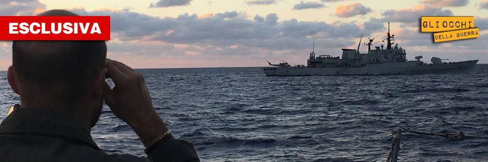 La fregata Aliseo pattuglia le coste libiche