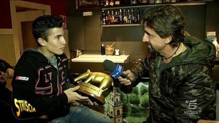 """Striscia consegna il tapiro a Marquez: """"A Valencia volevo vincere, ma Pedrosa..."""""""