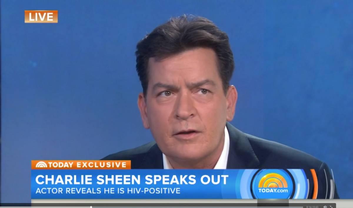 "Charlie Sheen in diretta tv: ""Sono sieropositivo"""