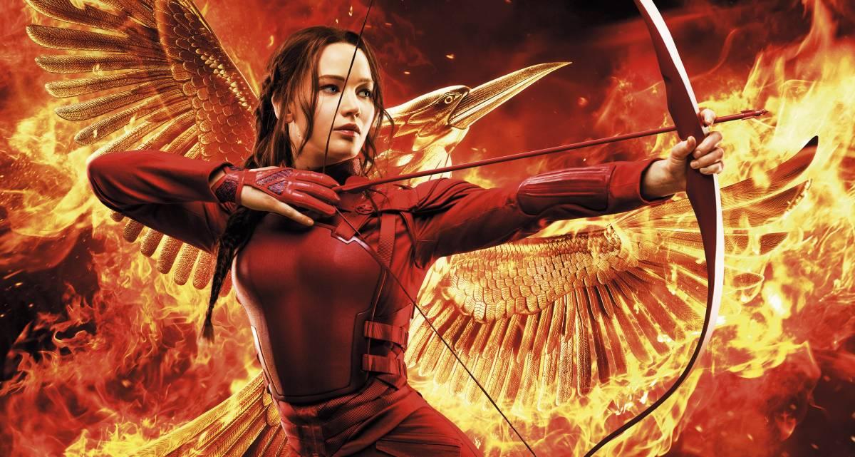 Jennifer Lawrence sulla locandina di Hunger Games